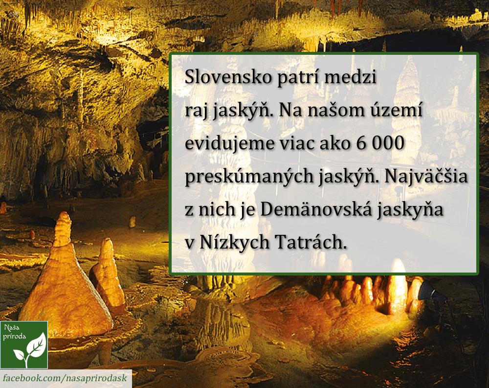 Jaskyne Slovensko naša príroda